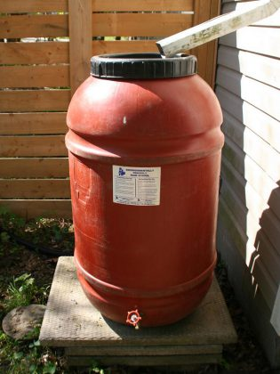 Rain barrels are an excellent way to conserve water to use for your plants during droughts. They can be purchased at the GreenUP store, with Peterborough Utilities customers receiving an automatic discount of $25. (Photo: GreenUP)