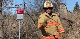 Fire Chief Mark Pankhurst of Kawartha Lakes Fire Rescue Services explains dry conditions in a video from April 2020. (Screenshot)