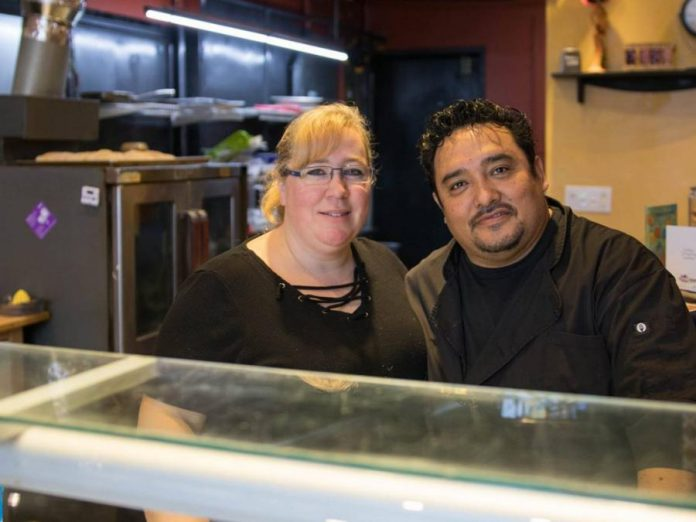 Kelly and Martin Carbajal opened La Mesita Restaurante in downtown Peterborough in November 2017, shortly after the couple married. When their restaurant was shut down to due the pandemic, the Carbajals gave back to the community by securing sought-after items such as flour, yeast, and toilet paper from their suppliers and delivering them to family, friends, and customers. Now they're partnering with next-door neighbour The Garnet on a joint patio that benefits both businesses. (Photo: Martin Carbajal / Facebook)