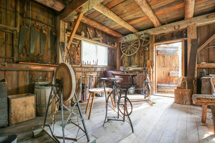 The Hastie Carpenter Shop at Lang Pioneer Village Museum in Keene is an accurate reconstruction of a building from the 1880s that served two generations of carpenters. The museum is opening for the season on July 8, 2020 for booked guided tours only. (Photo: Lang Pioneer Village Museum)