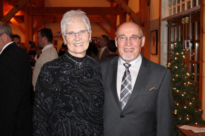 Peterborough artist Neil Broadfoot, pictured at a 2014 wedding with his wife Margaret, has passed away at the age of 84. (Photo courtesy of the Broadfoot family)