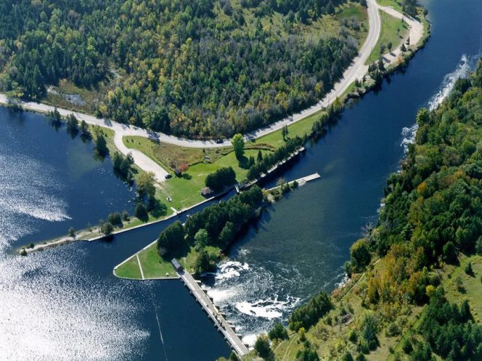 While camping is normally allowed at many lockstations along the Trent-Severn Waterway, it is currenlty prohibited at Otonabee (Lock 23, pictured), Douro (Lock 24), and Sawer Creek (Lock 25) along the Otonabee River between Peterborough and Lakefield due to ongoing infrastruture projects. At least two local residents have observed many tents set up at pull-off areas along County Road 32 (River Road), especially during the weekends, with visitors leaving garbage and publicly defecating in the area. (Photo: Parks Canada)