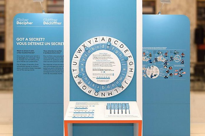 Cipher-Decipher, an exhibit about the history of encrypted communications curated by the Canadian Museum of Science & Technology, is on display at Peterborough Museum and Archives, which opens by appointment only on July 6, 2020. However, due to concerns about COVID-19, interactive activities in exhibits have been temporarily removed. (Photo: Canadian Museum of Science & Technology)