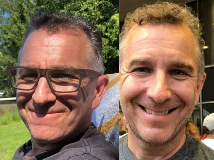 Two photos of 55-year-old Robert Smith of Scarborough, who had gone missing in the Minden area of Haliburton County on July 22, 2020. On July 26, police were called to the north end of Minden Lake where a resident had located a male body near their dock. Police have confirmed the body is that of Smith. (OPP-supplied photos)