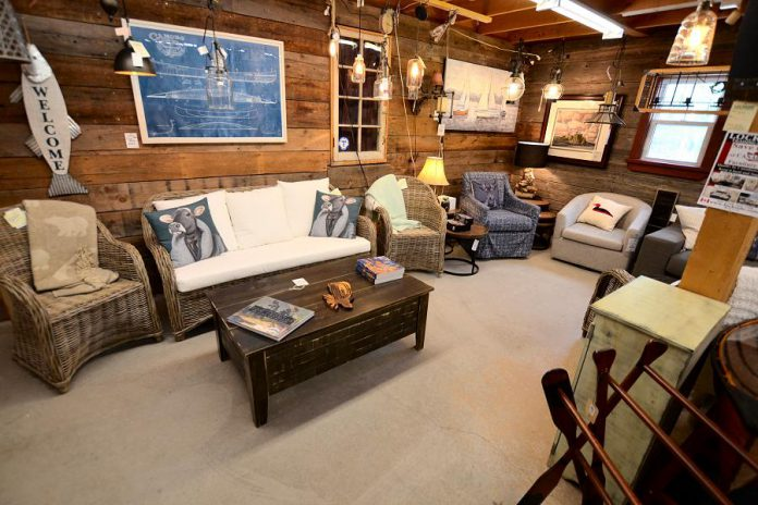 The largest country store in the Kawarthas, Lockside Trading Company in Young's Point is welcoming in-person shoppers back with a COVID-safe shopping experience. The store offers 7,000 square feet of cottage and country items including high-quality indoor and outdoor furniture, home decor, clothing, lighting, giftware, and more. (Photo courtesy of Lockside Trading Company)