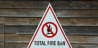 Total fire ban sign