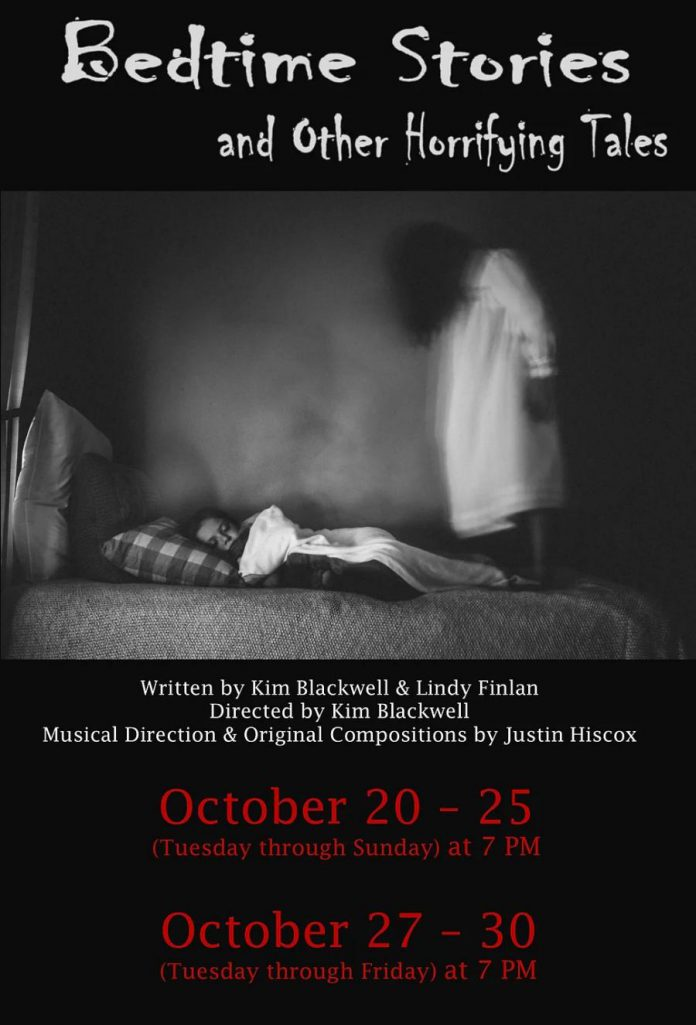 """Tickets are available now for 4th Line Theatre's """"Bedtime Stories and Other Horrifying Tales"""", which runs for 10 performances from October 20-30, 2020 at the Winslow Farm in Millbrook. (Poster: 4th Line Theatre)"""