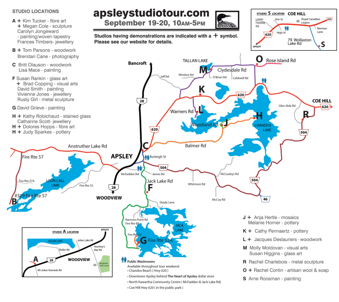 2020 Apsley Autumn Studio Tour Map