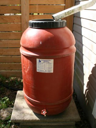 Rain barrels are an excellent way to capture and conserve rainwater. They are available for purchase at the GreenUP Store and Peterborough Utilities customers will receive an instant discount of $25 off.  (Photo courtesy of GreenUP)