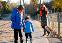 If it's an option for your children, using active transportation methods to get to and from school is an excellent way for students to get some exercise and maintain physical distancing during the pandemic. (Photo: GreenUP)