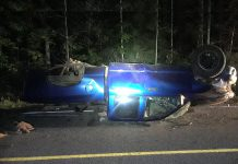 A 19-year-old Coe Hill man is facing multiple charges after a rollover in Hastings County on August 2, 2020. (Photo: Bancroft OPP)