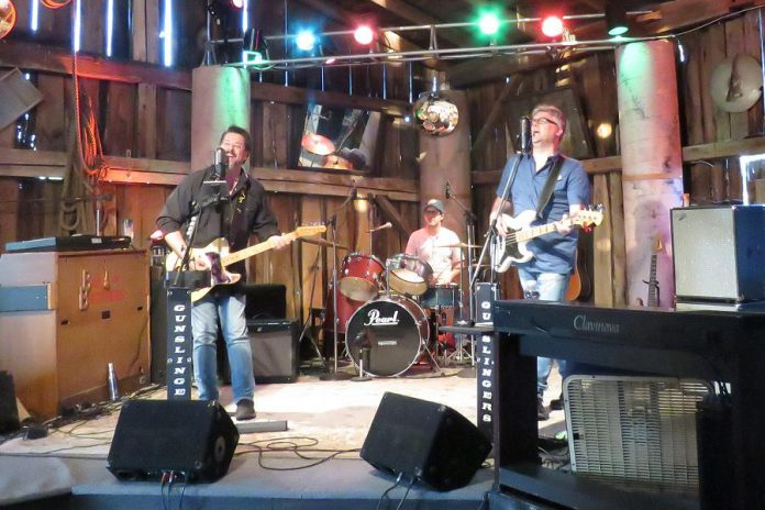 Andy Tough's new Live! At The Barn music performance video series, recorded and produced at the Norwood-area barn-turned-recording studio he owns with his wife Linda, debuts on YouTube on August 21, 2020. Local rock and county band Gunslingers (pictured) will kick off the series, with four other bands each featured on four successive Fridays. Viewers will have an opportunity to donate to each band. (Photo courtesy of Andy Tough)