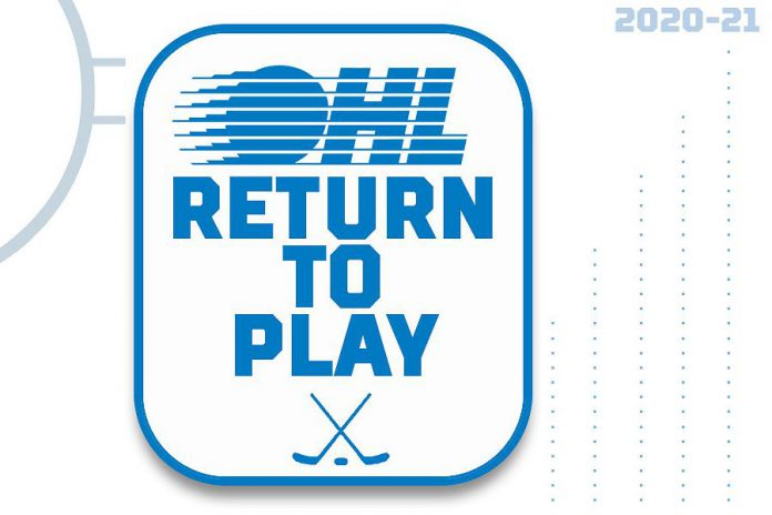 The OHL plans to resume 2020-21 regular season play on December 1, 2020, as long as it's safe to do so. (Graphic: OHL)