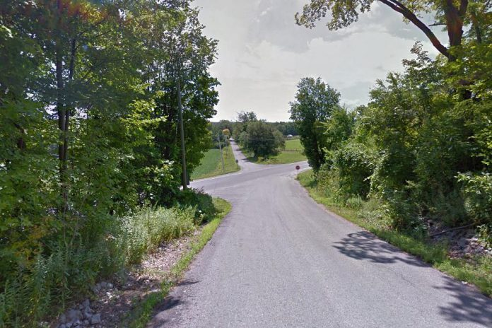 One man died and another was seriously injured on August 15, 2020, when their ATV turned from Harwood Road onto Old School House Road in Hamilton Township, left the roadway, and struck a hydro pole. (Photo: Google Maps)