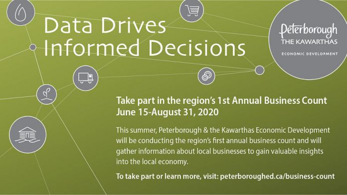 The first annual Business Count in Peterborough and the Kawarthas continues until August 31, 2020. (Graphic: Peterborough & the Kawarthas Economic Development)