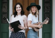 Megan Murphy and Kate Suhr are bringing performing arts to your front (or back) door with 'The Verandah Cafe. (Photo courtesy of The Verandah Cafe)