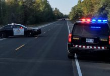 The OPP closed Highway 28 between Apsley and Paudash following an motorcycle accident on September 20, 2020. The driver, who lost control of his vehicle, was airlifted to a Toronto-area hospital with life-threatening injuries. (Photo: OPP)