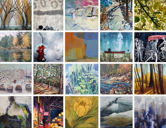 "A preview of some of the artwork in the Art Gallery of Peterborough's  ""It's All About ARTISTS!"" online auction in support of local artists. (Photos courtesy of Art Gallery of Peterborough)"