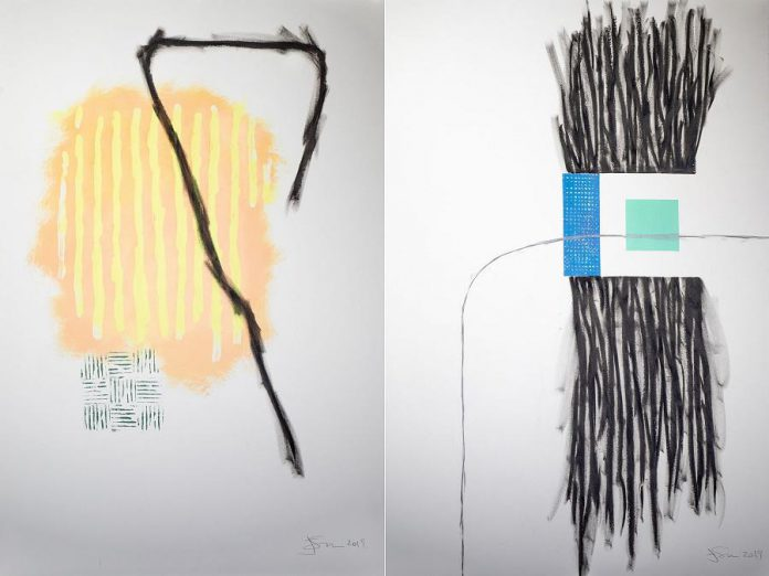 Works on paper from the series 'from inquisition to slapstick' by James Matheson. (Photos courtesy of Atelier Ludmila)