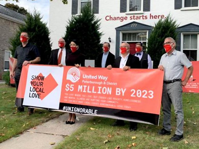 The United Way Peterborough and District announced its three-year campaign goal to raise $5 million on September 28, 2020. (Photo courtesy of United Way Peterborough and District)