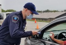 Peterborough's drive-through COVID-19 testing centre for people without symptoms will be located at Eastgate Memorial Park at 2150 Ashburnham Drive effective September 21, 2020. When visiting the testing centre, bring your Ontario Health Card and driver's license with you. (Photo courtesy of PRHC)