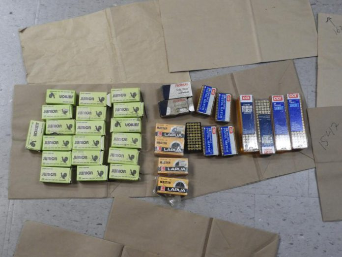 Peterborough police seized more than 1,600 rounds of ammunition from a Peterborough home on September 24, 2020. (Police-supplied photo)