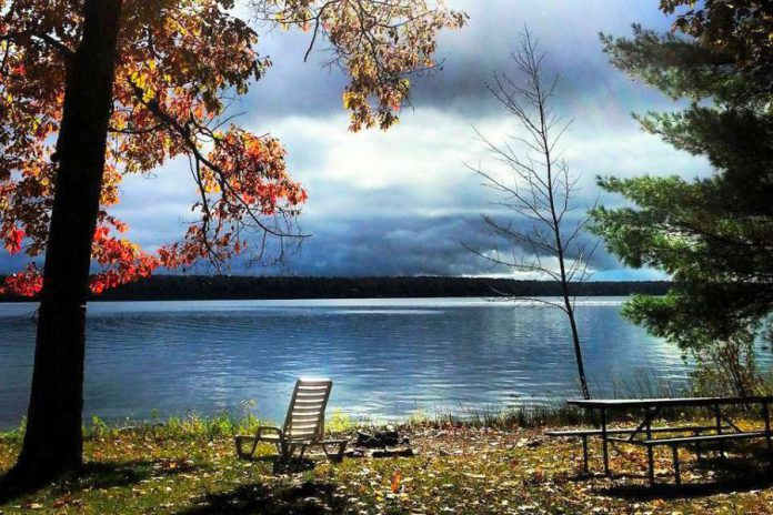 With trees bursting with colour on the shores of Lower Buckhorn Lake and no bugs, fall is a great time for a mini-vacation or family getaway at Beachwood Resort. (Photo: Allison Northey / NorthCrest Photography @northcrestphoto on Instagram)