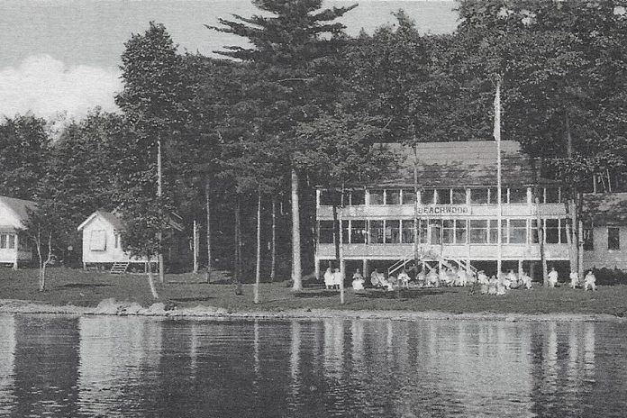 Beachwood Resort was originally built in 1926 as a fishing lodge by the Beach family from Ohio, catering to their American friends. Now owned by the Morgan family of Canada, the resort has continued to welcome American guests, except this year due to the COVID-19 pandemic which has closed the U.S.-Canada border. (Photo courtesy of Beachwood Resort)