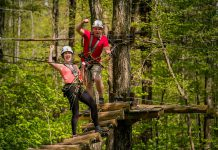 Treetop Trekking offers aerial courses and ziplines at six adventure parks across Ontario, including one in the Ganaraska Forest near Port Hope. (Photo courtesy of Treetop Trekking)