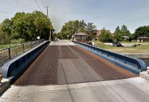 The Warsaw Swing Bridge on Parkhill Road East between Armour Road and Television Road in Peterborough will be closed from October until spring 2021 for replacement. (Photo: Google Maps)