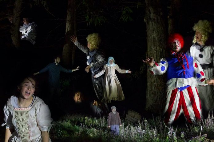 """A compilation of photos from 4th Line Theatre's original outdoor production """"Bedtime Stories and Other Horrifying Tales"""". The Halloween-themed show runs from October 20 to 30, 2020 at the Winslow Farm in Millbrook. (Photos: Wayne Eardley / Brookside Studio)"""