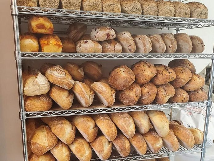 Hard Winter Bakery offer sourdough breads as well as a range of fresh baked goods. The bakery is currently bringing in Montreal-style bagels every few weeks from Montreal (of course), but is working to bring back production of their popular bagels. (Photo: Hard Winter Bakery)
