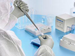 COVID-19 tests in a laboratory. (Stock photo)