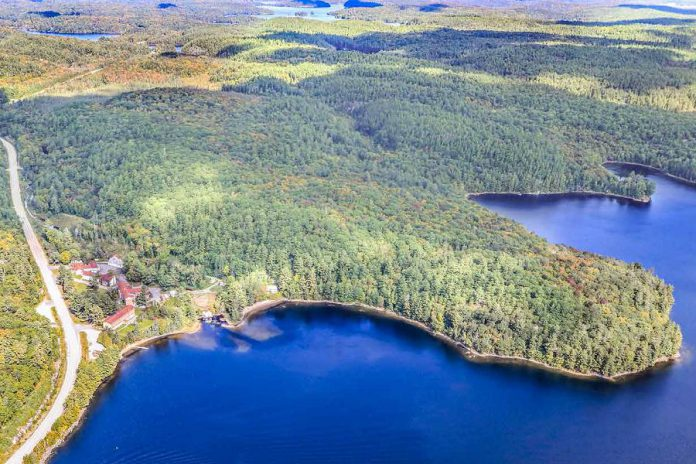 The former Leslie M. Frost Natural Resources Centre in Haliburton County is up for sale for $1.1 million. The 43-acre property has 1,480 feet frontage along Highway 35 and 2,800 feet of shore line on St. Nora Lake. (Photo: CBRE Limited Real Estate Brokerage)