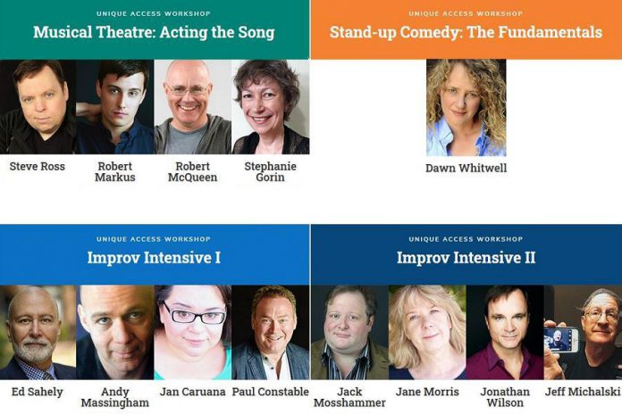 Klusterfork is offering eight-class workshops on musical theatre, stand-up comedy, and improv over four weeks beginning October 5 and 6, 2020. (Graphic: Klusterfork)