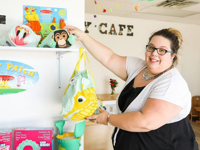 Sarah Susnar, co-owner of Lavender and Play Family Boutique and Studio in Peterborough, previously operated Play Café for five years in Peterborough. She has worked as an early childhood educator for nine years and recently added birth and postpartum doula to her wheelhouse. (Photo: Heather Doughty)