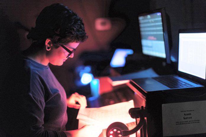"LLAADS' ""silent E"" behind the scenes: Eryn Lidster. (Photo: Adam Martignetti)"