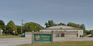 As of October 26, 2020, the Peterborough COVID-19 testing centre will be located inside Northcrest Arena at 100 Marina Boulevard. As drive-through testing will no longer be available, people with appointments will be asked to come inside the arena for their test. (Photo: Google Maps)