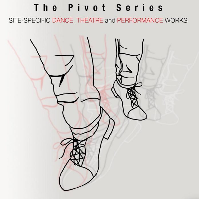 """Public Energy's """"The Pivot Series"""" features 10 short site-specific dance and theatre works at various outdoor locations in Peterborough from October 2 to 18, 2020. (Graphic: Public Energy)"""