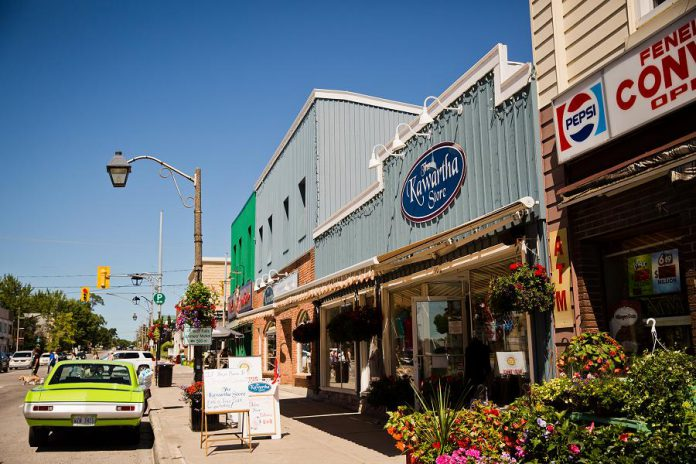 """Locally owned and operated businesses across Kawartha Lakes, including in Fenelon Falls, have been greatly impacted by the pandemic. The City of Kawartha Lakes' new """"Shop Kawartha Lakes"""" campaign encourages residents and visitors to support the region's more than 6,000 businesses. (Photo: City of Kawartha Lakes)"""