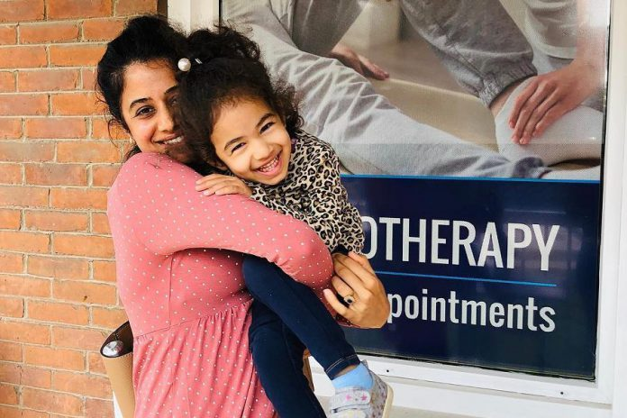Dr. Manju Asdhir, owner of Kawartha Care Wellness Centre in Lindsay (pictured with her daughter), has seen an increase of clientele at her clinic during the pandemic. Local residents are discovering they don't need to travel outside the region to get the services they need. (Photo: Kawartha Care Wellness Centre)