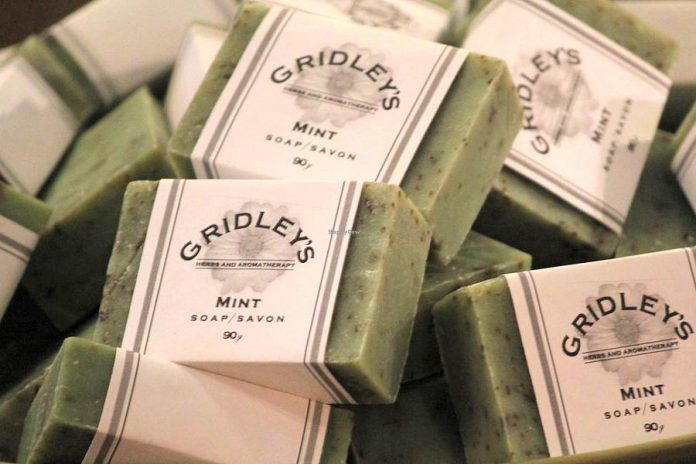 Gridley's Herbs and Aromatherapy in Woodville produces handmade soap and body care products. With craft shows and festivals cancelled during the pandemic, owner Michele Sauvé is expanding her online sales and in-store purchases to reach her local customers. (Photo: Gridley's Herbs and Aromatherapy)
