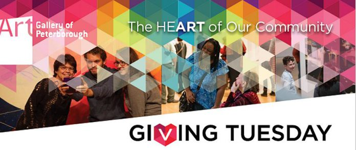 Donate to the Art Gallery of Peterborough on Giving Tuesday. (Graphic: Art Gallery of Peterborough)