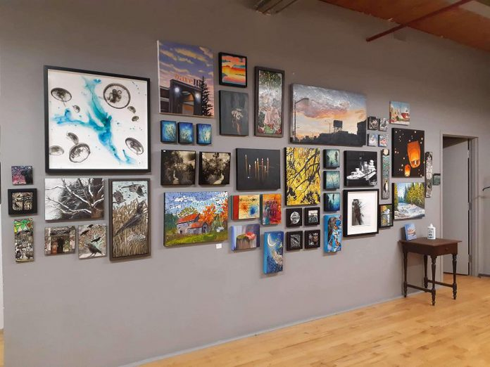 Works on display during the First Friday Festivus Open Studio Sale. (Photo courtesy of Atelier Victoria Wallace)