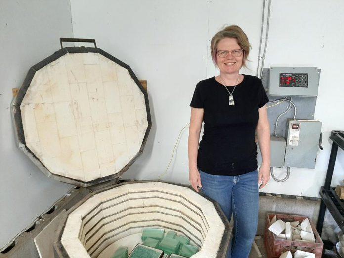 Artist Christy Haldane in her studio. (Photo courtesy of the artist)