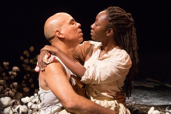 """""""We need to see colour on stage."""" Beau Dixon and Virgilia Griffith perform in Toronto's Tarragon Theatre's """"Harlem Duet"""" in 2018. In his new role as artistic associate at 4th Line Theatre in Millbrook, Dixon will assist the outdoor theatre company to establish a talent bank of racialized artists, uncover local racialized stories, and liaise with racialized community partners. (Photo: Cylla von Tiedemann)"""