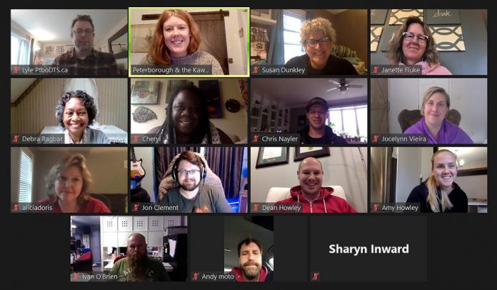 The 14 successful applicants for the fall intake of the Starter Company Plus program in Peterborough and the Kawarthas during a Zoom call. (Photo: Peterborough & the Kawarthas Business Advisory Centre)