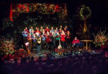 "The Convivio Chorus perforrming at the annual ""In From The Cold"" Christmas concert at Market Hall Performing Arts Centre in downtown Peterborough in December 2015, raising funds for YES Shelter for Youth and Families. With a live concert not possible this year because of the pandemic, a selection of favourites from the past 20 years of In From The Cold concerts will be broadcast on Trent Radio on December 11 and 12, 2020, and streamed from Trent Radio's website. (Photo: Linda McIlwain / kawarthaNOW.com)"