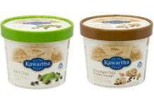 If you have Kawartha Dairy's Mint Chip Ice Cream or Chocolate Chip Cookie Dough Ice Cream in your freezer, check the cartons for specific production codes to see if the ice cream has been recalled. Kawartha Dairy is recalling the production codes because of the possibility that chocolate chips used in the ice cream may include small pieces of metal. Retailers including grocery stores should also be removing these products from their shelves. (Supplied photos)
