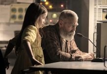 "George Clooney directs and stars as Augustine in ""The Midnight Sky"", a science-fiction film about a brilliant and aging astronomer in the Arctic who works to stop a team of astronauts from returning home after Earth suffers a mysterious global catastrophe. ALso pictured is Caoilinn Springall as Iris, the mysterious child Augustine encounters at his remote outpost. (Photo: Netflix)"